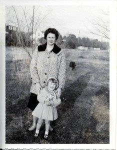 Me and my Mom the day after Christmas, 1959